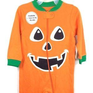 Other - Halloween Pumpkin Jack 'O Lantern Sleeper 3-6 Mo